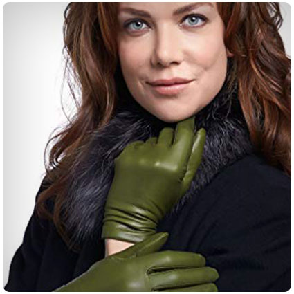 Fratelli Orsini Women's Italian Cashmere Lined Leather Gloves