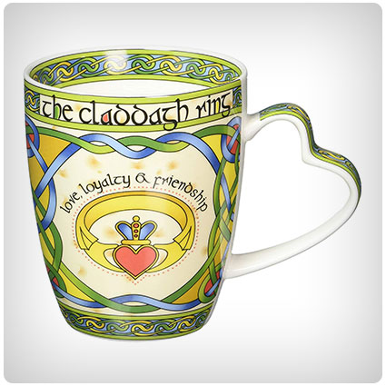 Irish Claddagh Ring Bone China Mug