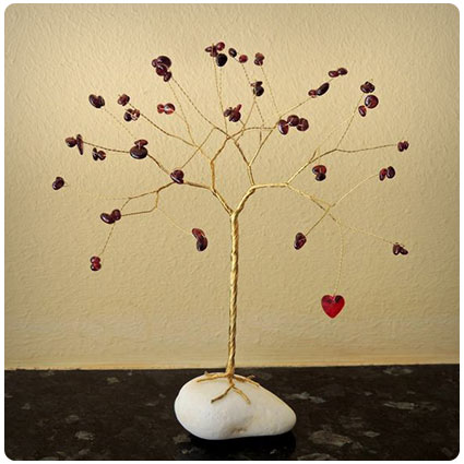 Ruby Tree Sculpture