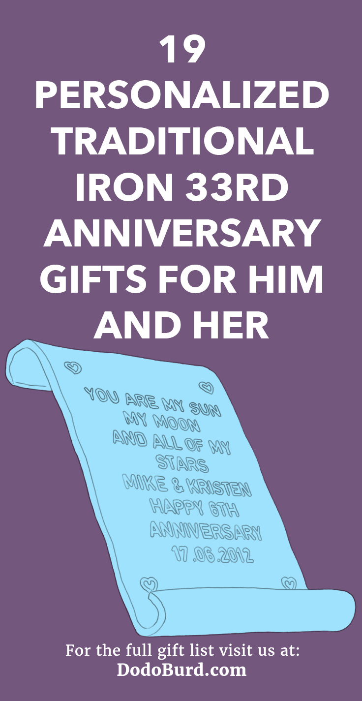 33rd Anniversary Gifts