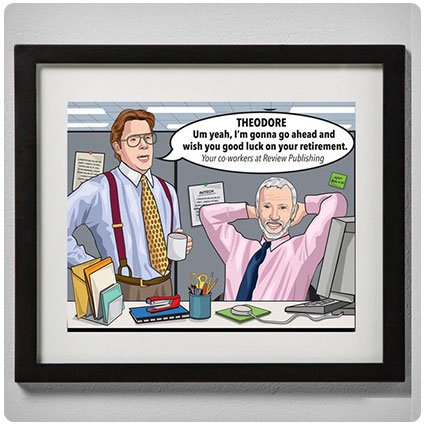 Custom The Office Caricature Retirement Gift