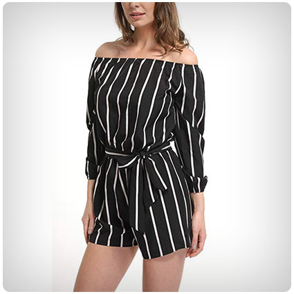 MISS MOLY Striped Romper