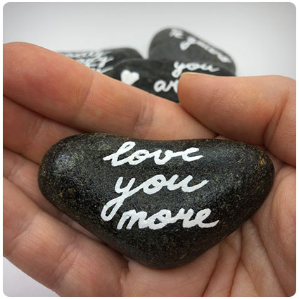 Personalized Heart Shaped Stone