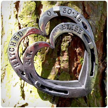 Personalized Horseshoe Hearts Keepsakes