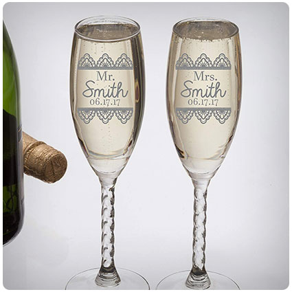 Personalized Wedding Gift-Champagne Flutes