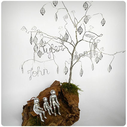 Personalized Wire Family Tree Sculpture