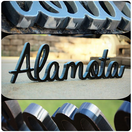 Stand Alone Personalized Metal Decor