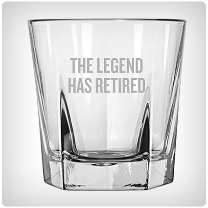 The Legend Has Retired Whiskey Tumbler