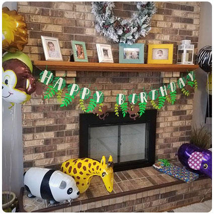 Jungle Themed Birthday Banner