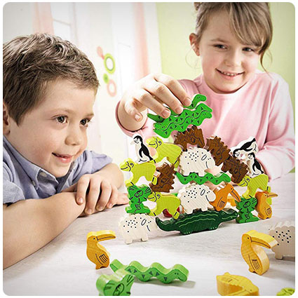 Animal Upon Animal Wooden Stacking Game