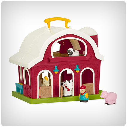 Battat Big Red Barn Playset for Toddlers