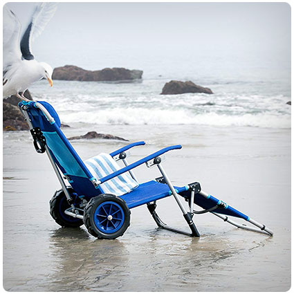 Beach Day Lounger Wagon and Chair