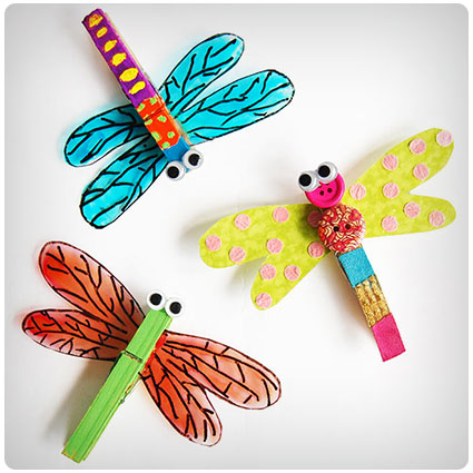 Diy Clothespin Dragonfly