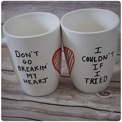 Diy His And Hers Sharpie Mugs