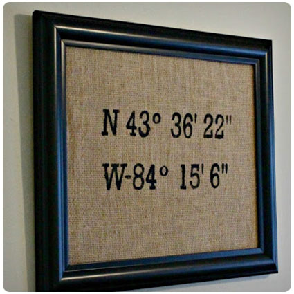 Diy Latitude-Longitude Wall Art