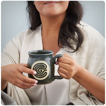 Finger Tracing Meditation Mug
