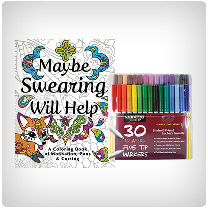 Maybe Swearing Will Help Coloring Book