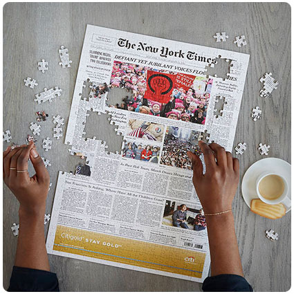 New York Times Custom Birthday Front Page Puzzle