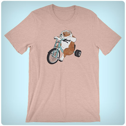 English Bulldog Dog on a Trike Shirt