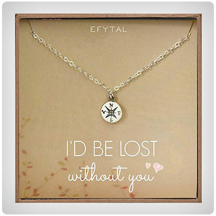 I'd Be Lost Without You Anniversary Necklace