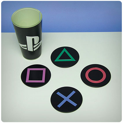 Playstation Metal Drink Coasters