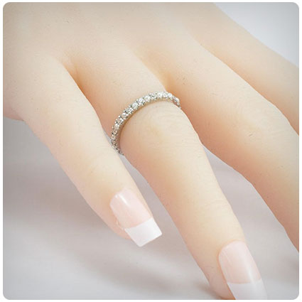 Diamonds and Pearls Eternity Ring