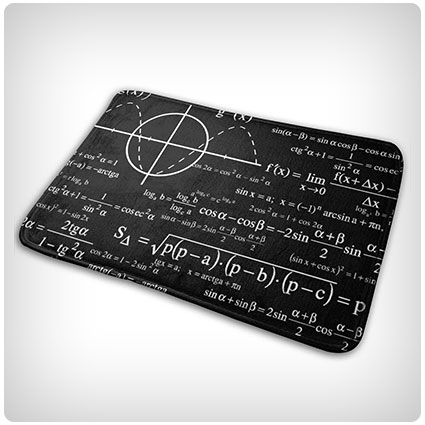 EWFXZq Geeky Physics Personalized Doormat
