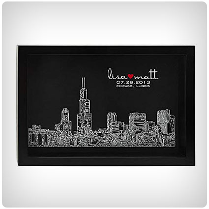 Personalized Engagement Gift City Skyline