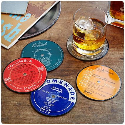 Upcycled Record Coasters