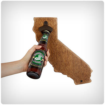 Wall Mounted State Bottle Opener