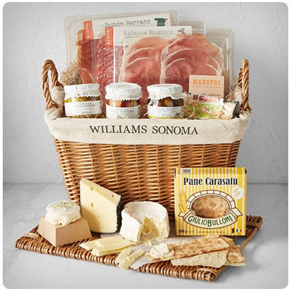 Williams Sonoma Deluxe Cheese & Charcuterie Hamper