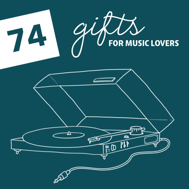 74 No-Fail Gifts for Music Lovers- your music obsessed friends and family will love these gifts.