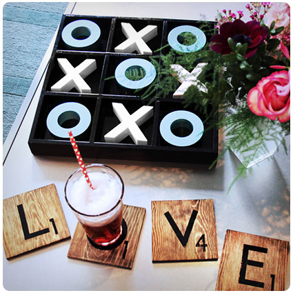 Scrabble Tile Inspired Diy Coasters