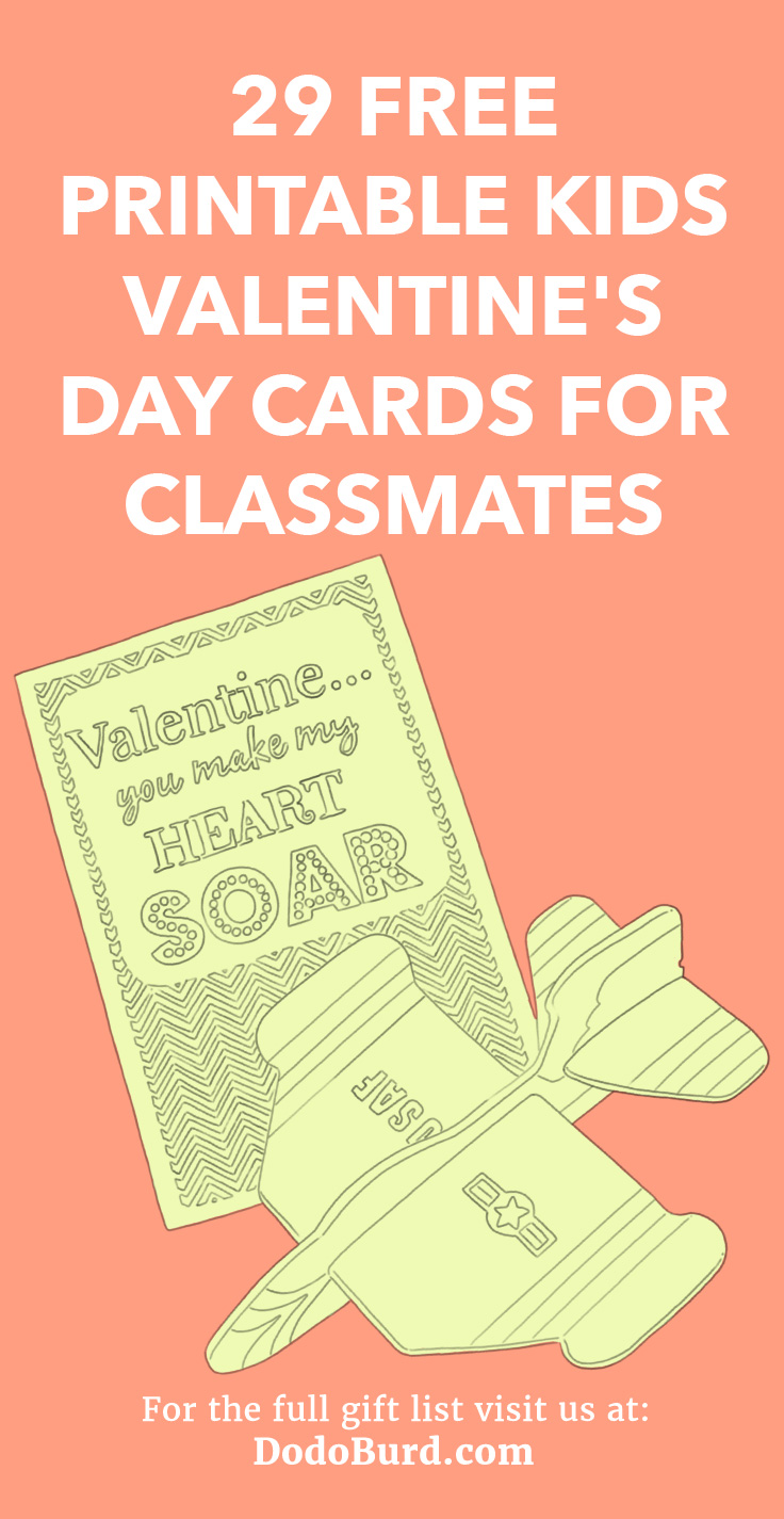 Free and printable Valentine cards for your kids classmates.
