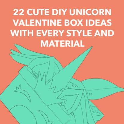Unicorn Valentine Boxes