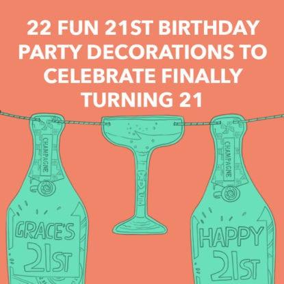 Alcohol Booze Birthday Banner