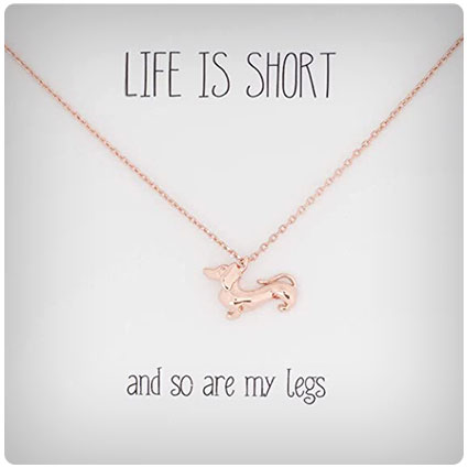 Life is Short Dachshund Necklace
