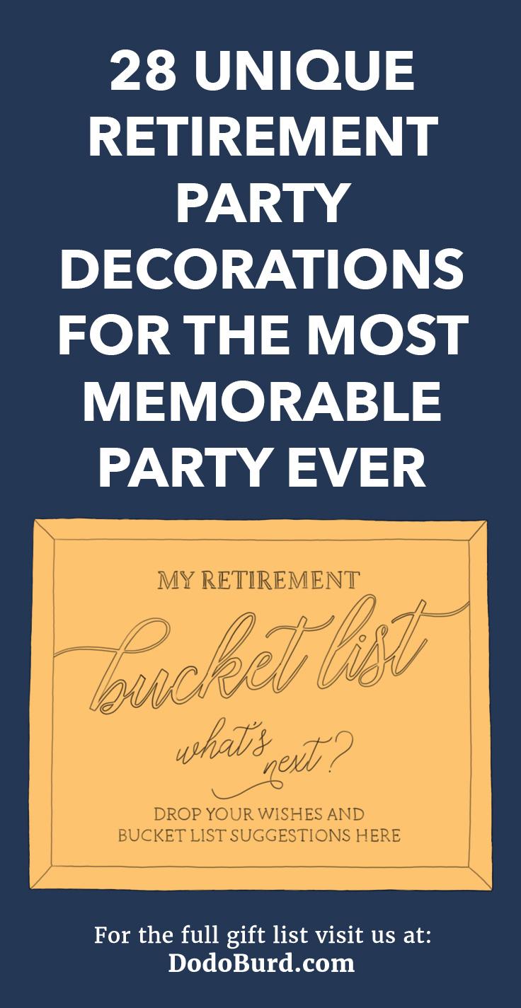 Retirement decoration party ideas.