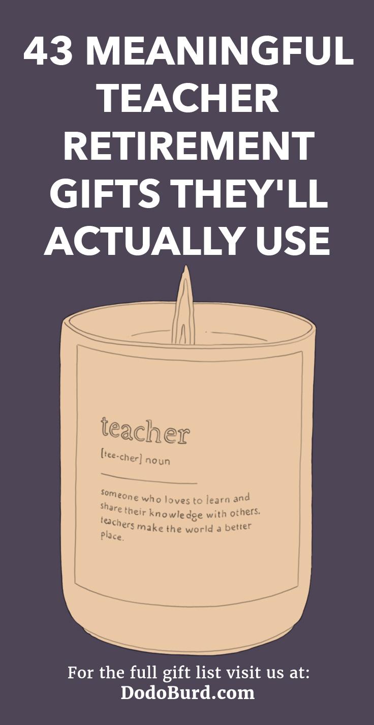 Thoughtful teacher retirement gift ideas.