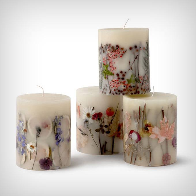 Four Seasons Dried Flower Candles
