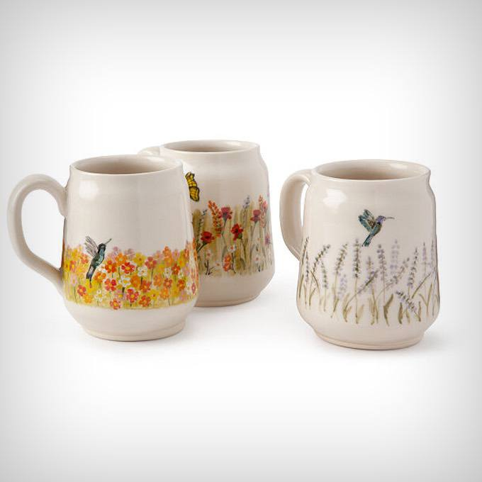 Hand-Painted Nature Mug