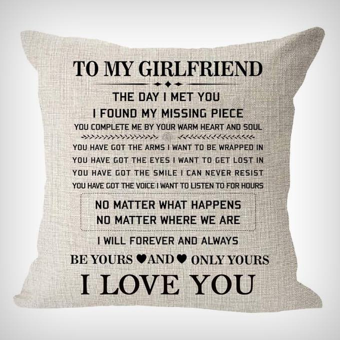 Blessing to My Girlfriend Pillow