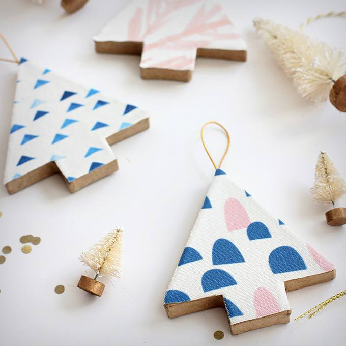 Fabric Covered Tree Ornaments