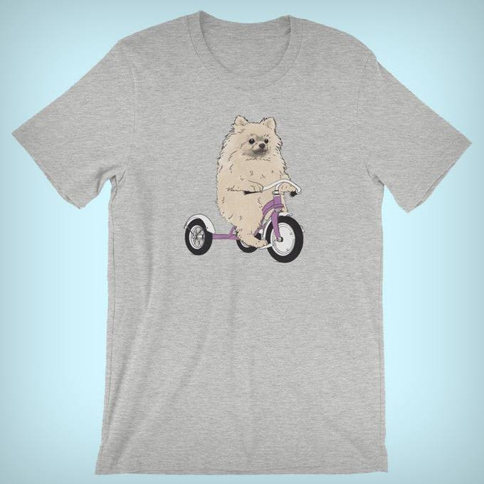 Funny Dog on Bikes Dog Breed Shirts