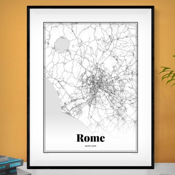 Personalized Custom Map of Anywhere