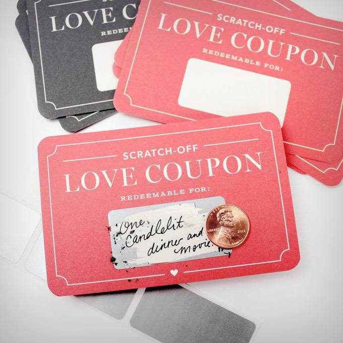 Scratch-off Love Coupons