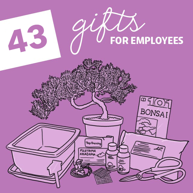 A happy employee is a productive employee! My dad got the perfect gift for two of his employees that went above and beyond using this list of gifts for employees.
