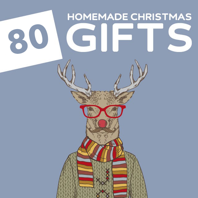 80 Amazing Homemade Christmas Gifts- love this list! Pretty much every kind of tutorial for homemade gifts imaginable.