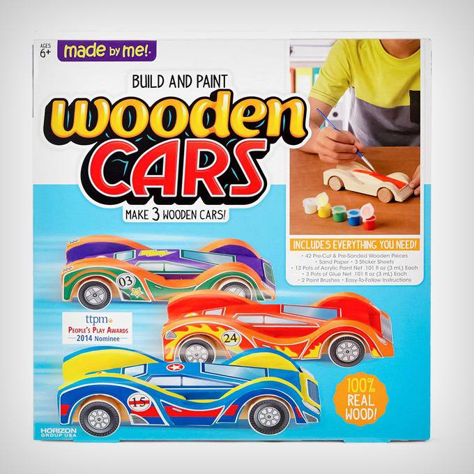 Build & Paint Your Own Wooden Cars