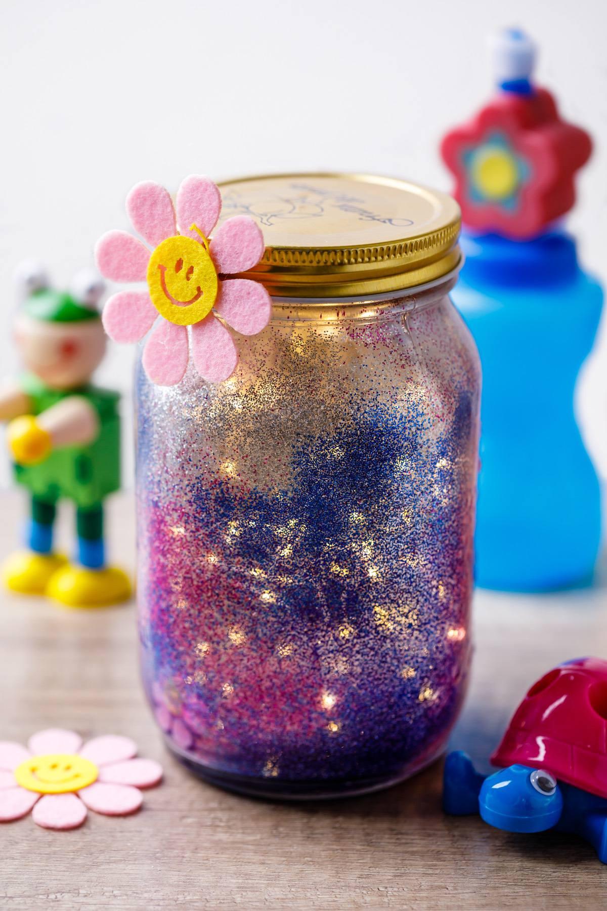 Diy Night Light Glitter Jar For Kids Dodo Burd